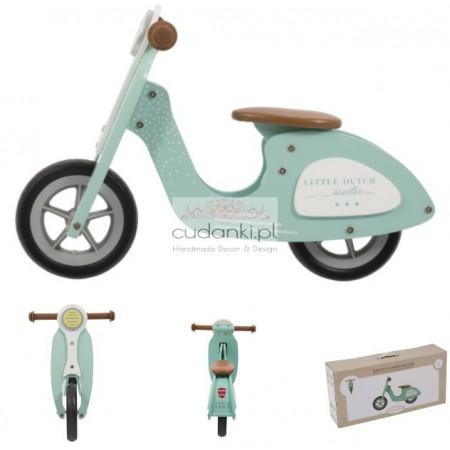 Little Dutch drewniany rowerek biegowy miętowy Skuter