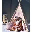 CARAMEL HEART Kids Play Tent Mat Pillow Crown Zelt