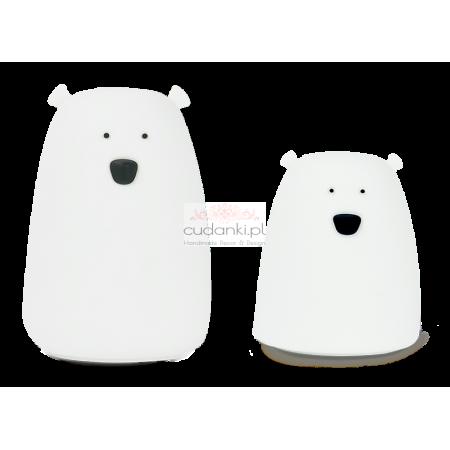 Lampka Duży Miś biały Rabbit & Friends