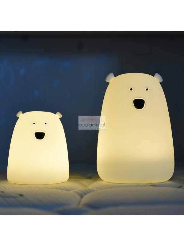 Lampka Mały Miś biały Rabbit & Friends