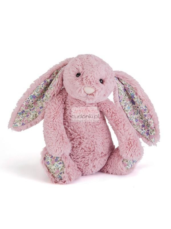 Różowy królik króliczek uszy w kwiatki Bashful bloosom 31cm