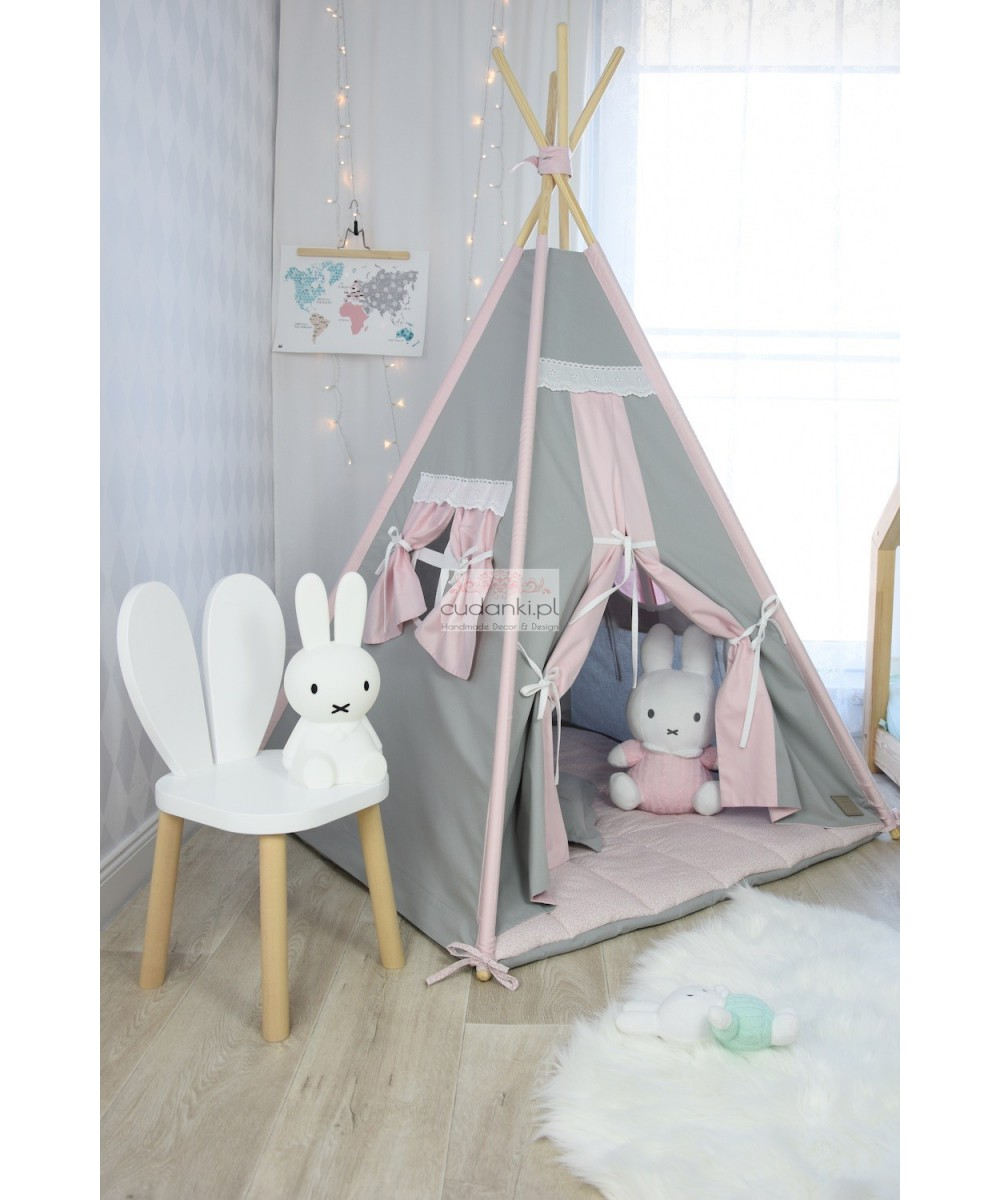 VINTAGE with Pink TEEPEE SET TENT PREMIUM line collection with hight quality mat