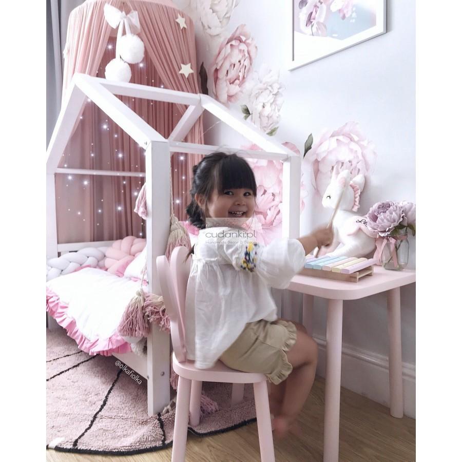 Piękne drewniane krzesełko dla dzieci motyl motylek butterfly