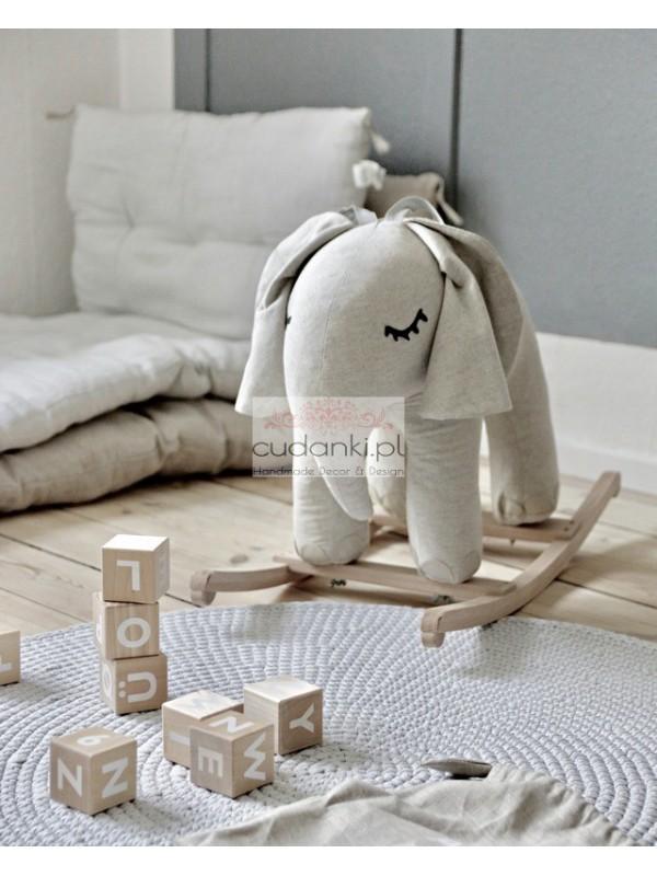 bujak słoń mały - w stylu skandynawskim - kolor naturalny