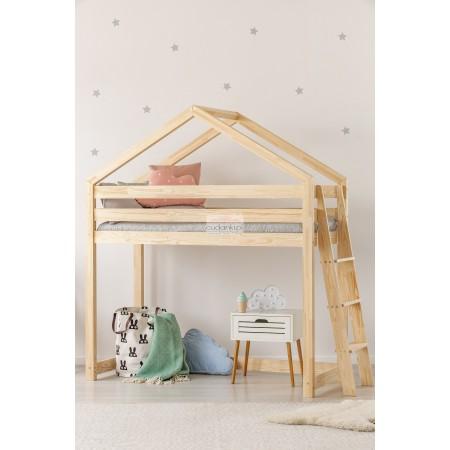 Łóżko domek NA ANTRESOLI PIĘTROWE SKANDYNAWSKIE ŁÓŻKO BEDHOUSE