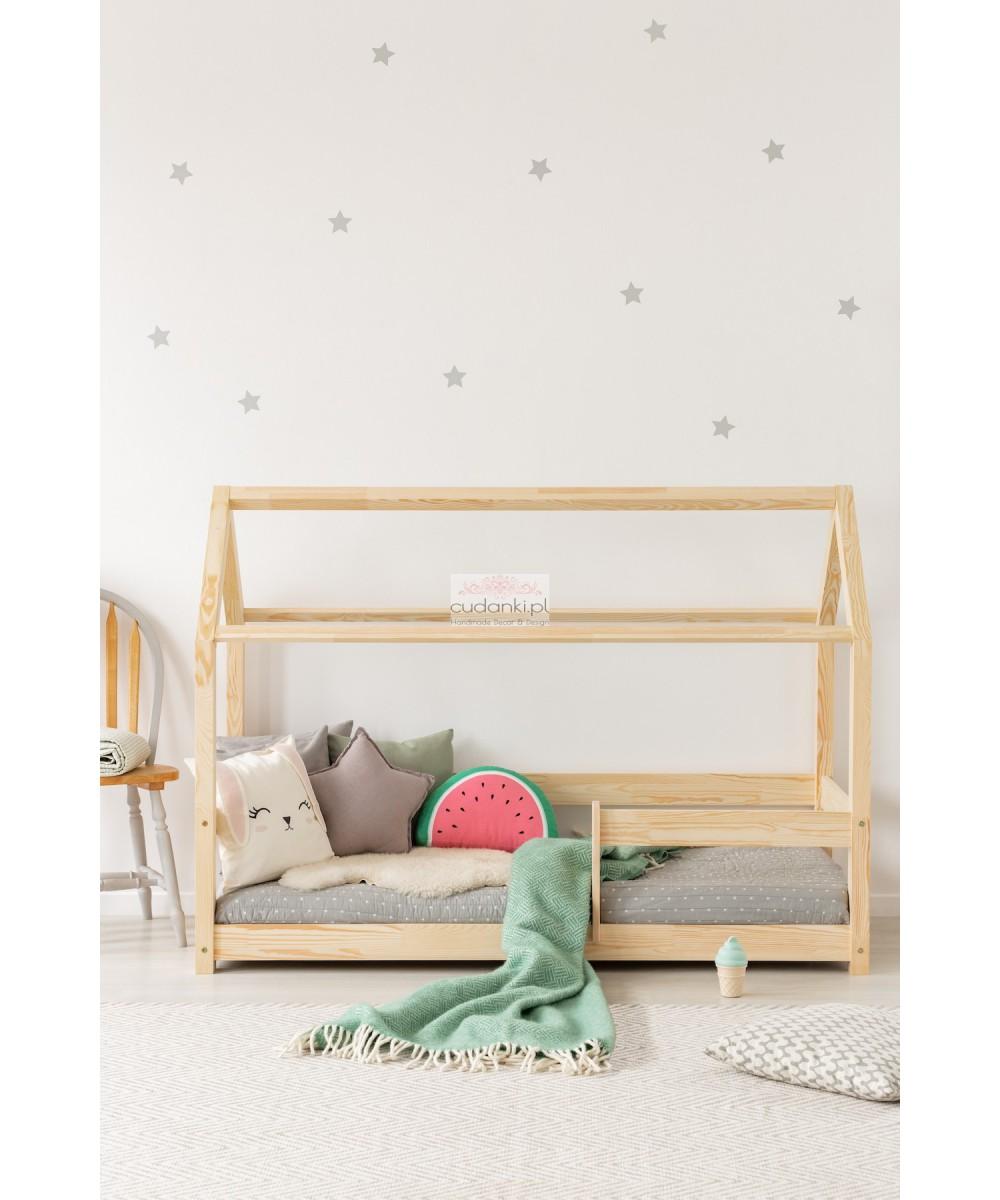 łóżko Domek Bed House Naturalne Z Giętkim Stelażem Pod Materac