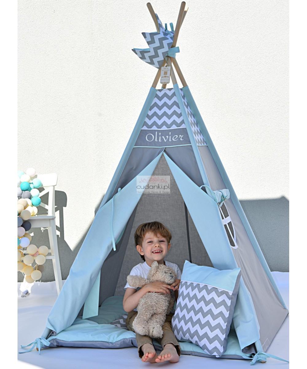 MINT RAINBOW Kids Teepee Tent Mat Pillow Crown Zelt