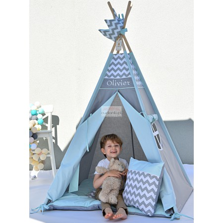 MINT RAINBOW Kids Teepee Tent Mat Pillow Crown Zelt