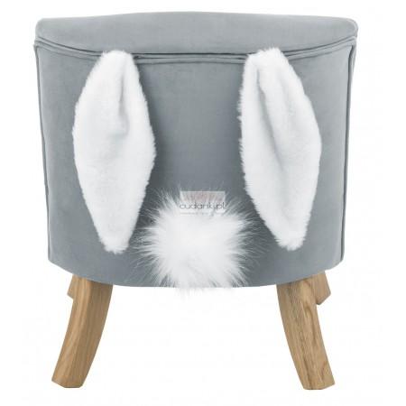 Fotelik dla dzieci SomeBunny szary króliczek