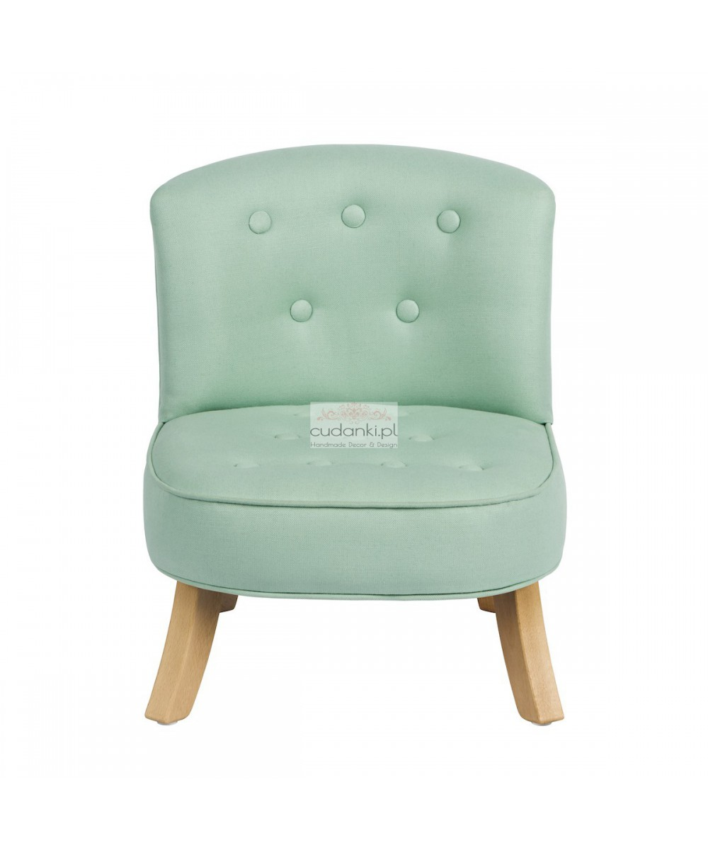 Fotel dla dzieci Len- Miętowy SomeBunny