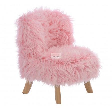 Fotelik Futrzak Pink Furry SomeBunny Różowy