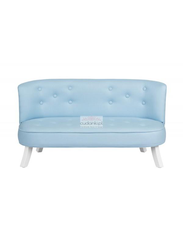 Sofa Len Błękitny Linen Powder Blue dla dzieci SomeBunny
