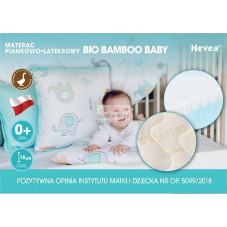 Materac z lateksem Hevea Bio Bamboo Baby