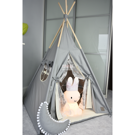 Zestaw namiot tipi DLA DZIECKA z koronką TEEPEE MY SWEET PRINCESS kolekcja V-Line PREMIUM gruba mata