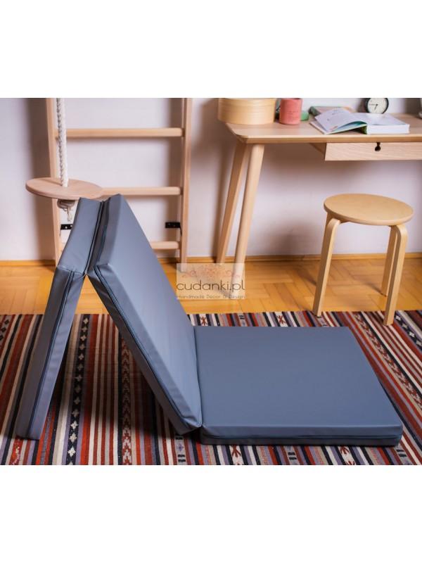 Materac gimnastyczny składany solidny trójelementowy