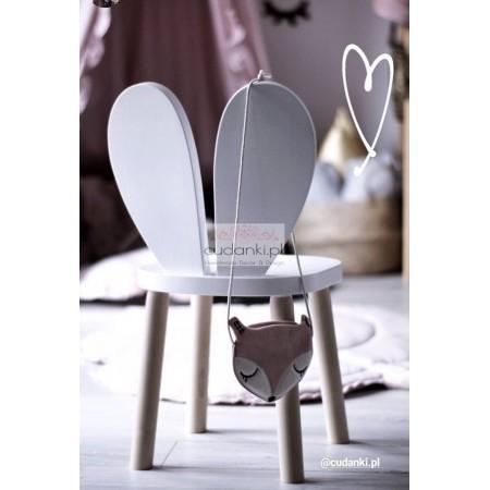 krzesło dziecięce drewniane Krzesło królik krzesełko drewniane króliczek