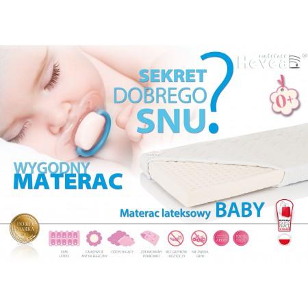 MATERAC LATEKSOWY HEVEA BABY