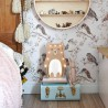 Drewniana Lampka Miś – biały brzuszek