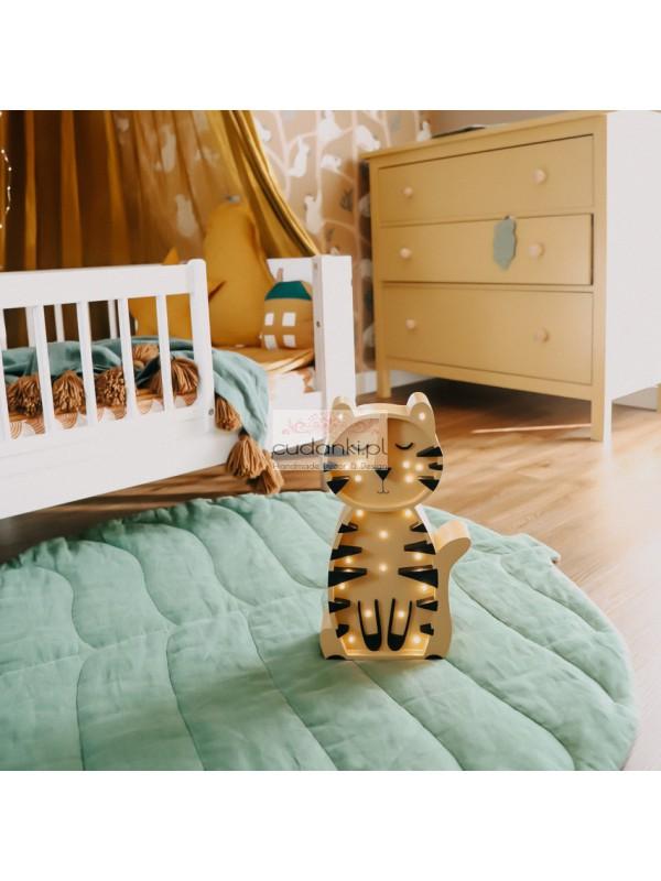 Drewniana Lampka Tygrys