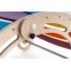 Składany Drewniany naturalny bujak sensoryczny dla dzieci Wooden Rocker z opcją zjeżdżalni