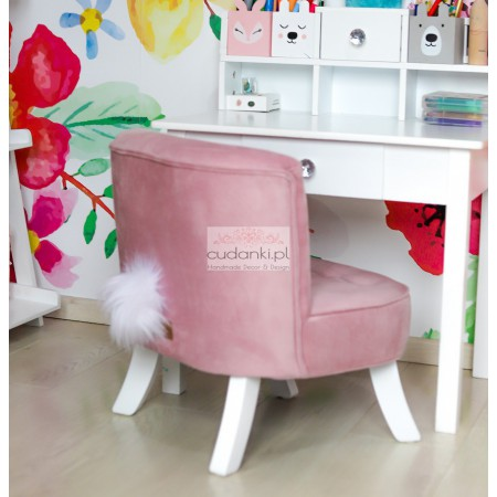 Somebunny fotelik z ogonkiem karmelowy róż