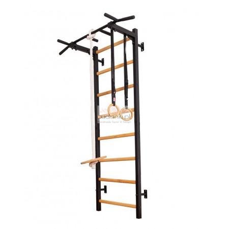 Nowoczesna drabinka sportowa MAGIC drewniano - metalowa drabinka gimnastyczna dla dzieci z regulowaną wysokością SERIA 222B