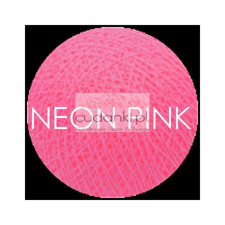 Kulka Cotton Balls NEON PINK do własnej aranżacji