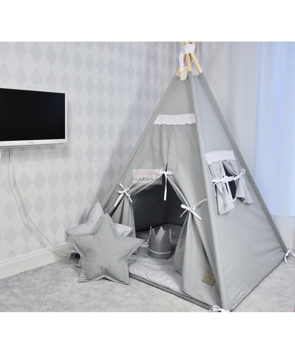 VINTAGE TEEPEE SET - PREMIUM line playmat, crown, pillow