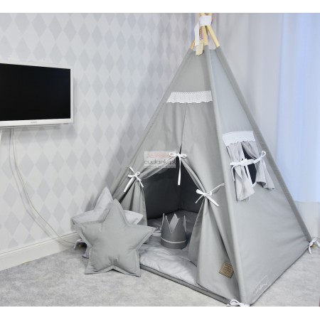VINTAGE TEEPEE SET - PREMIUM line playmat, crown, pillow