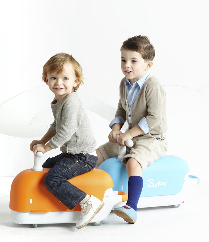 Bontoy jeździk rowerek biegowy niebieski