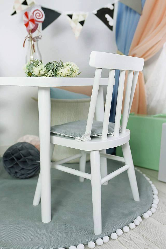 Drewniane krzesełko stolik komplet VINTAGE dla dzieci