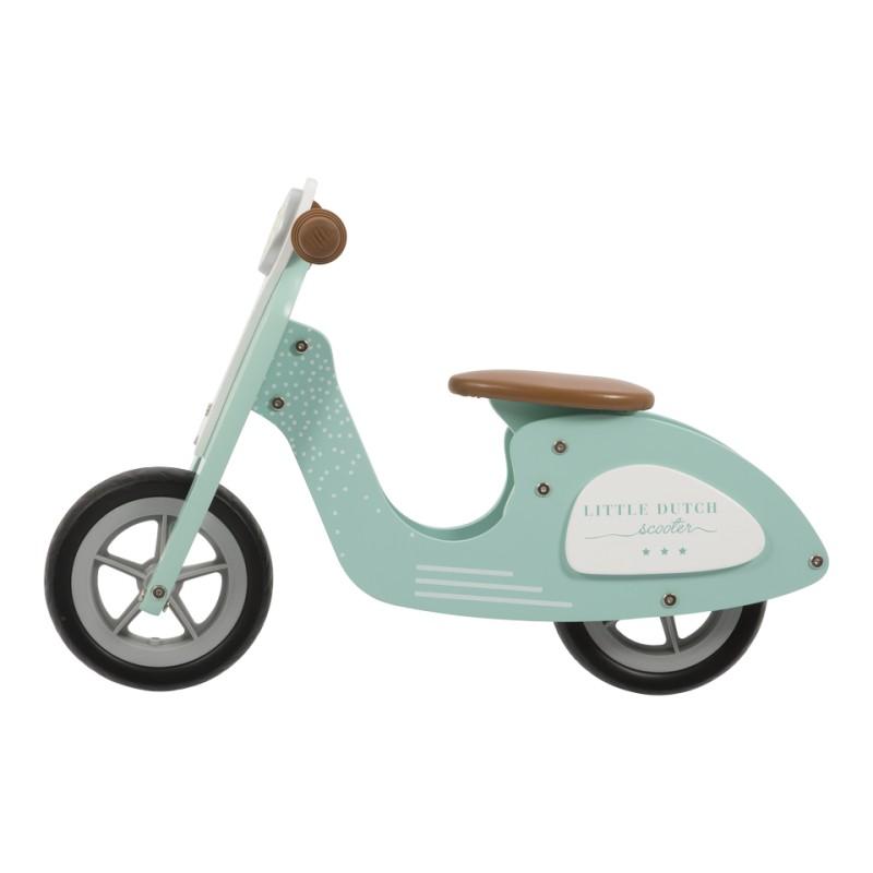 Little Dutch skuter drewniany jeździk rowerek biegowy miętowy