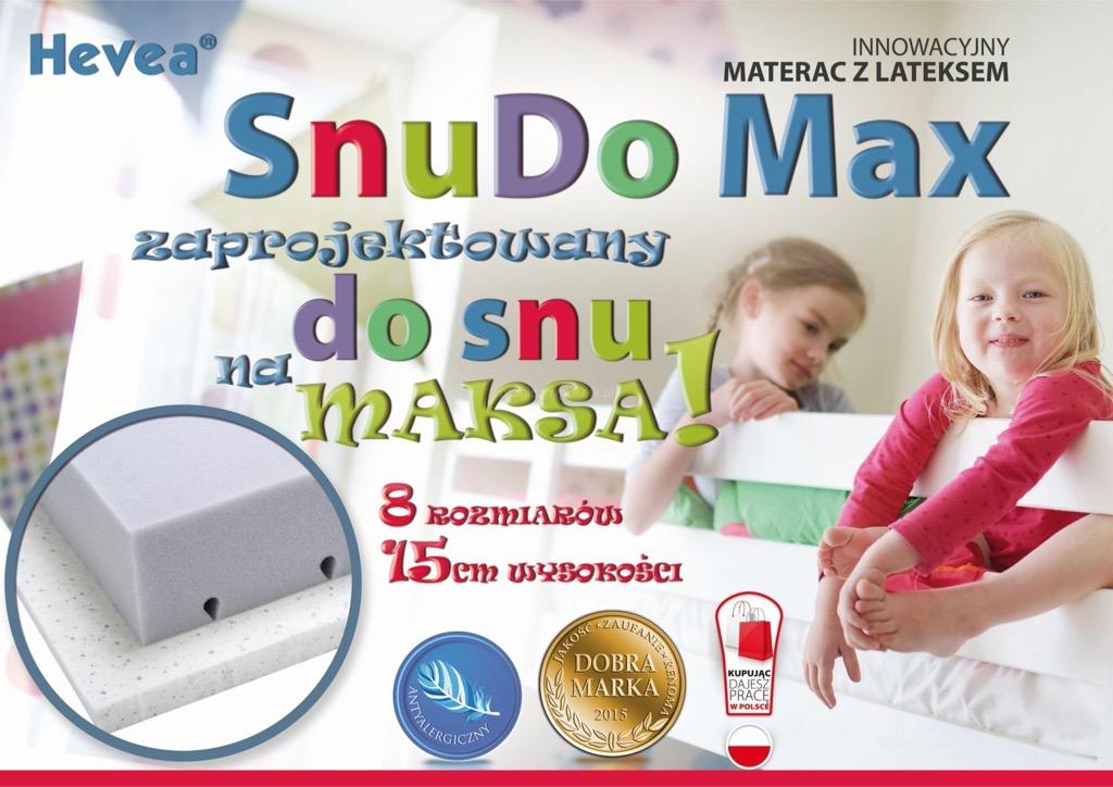 SnuDo MAX HEVEA materac dziecięcy wysokoelastyczny