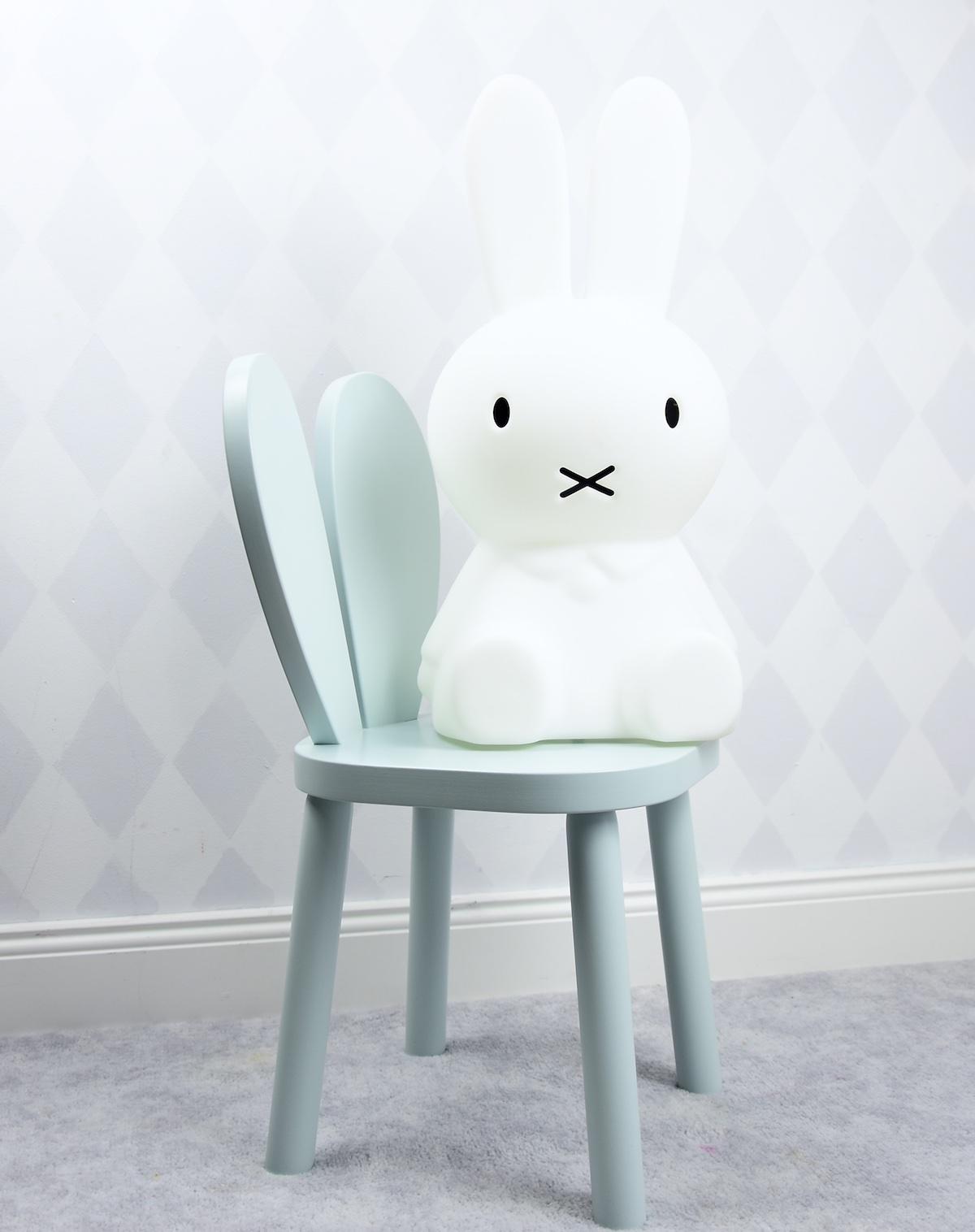 rabbit chair krzesełko drewniane krzesło królik króliczek mięta heart serce