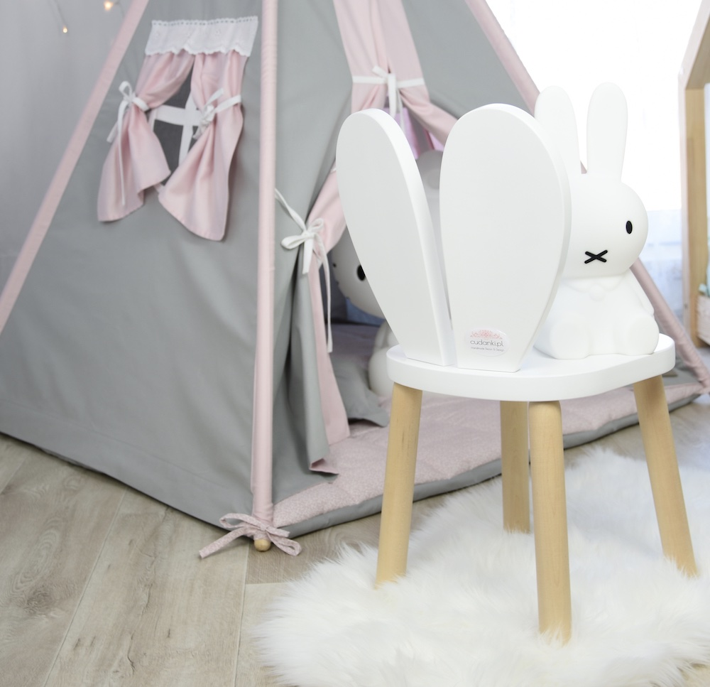 krzesło krzesełko królik rabbit heart chair