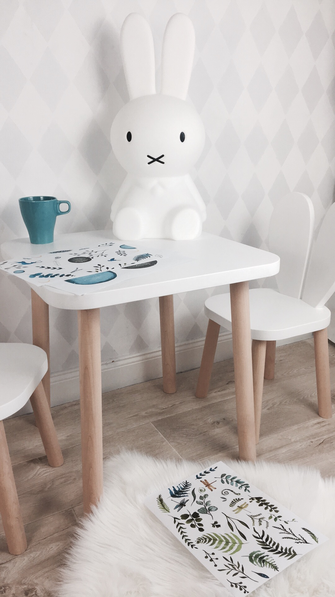 Wooden table for kids
