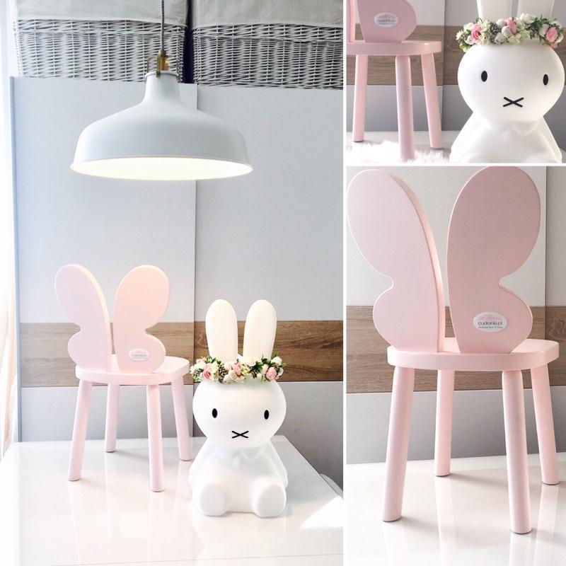 Motyl krzesełko butterfly motylek drewniane dla dzieci krzesełko drewniane dla dziecka motylek
