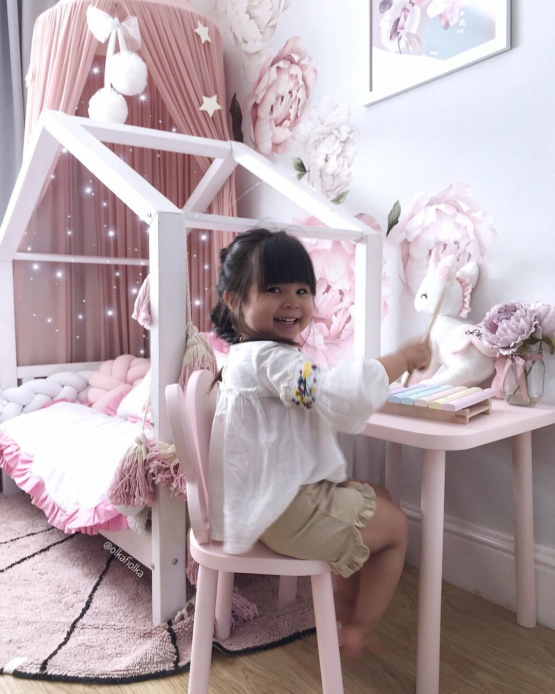 Motyl krzesełko butterfly motylek drewniane dla dzieci