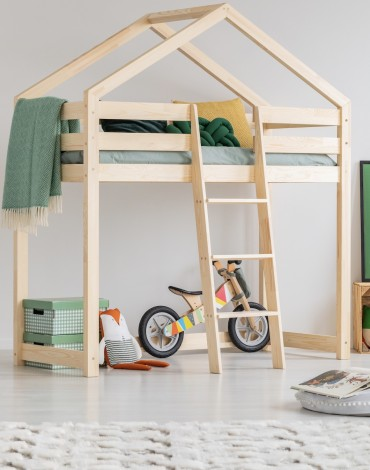 Najwyższej jakości solidne drewniane łóżka dla dzieci łożko domek łóżko domek piętrowe house bed CUD